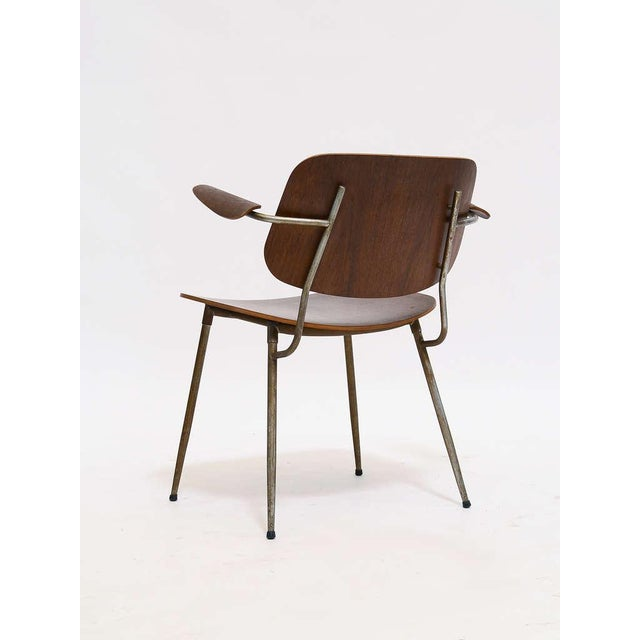 Metal Armchair by Borge Mogensen For Sale - Image 7 of 10