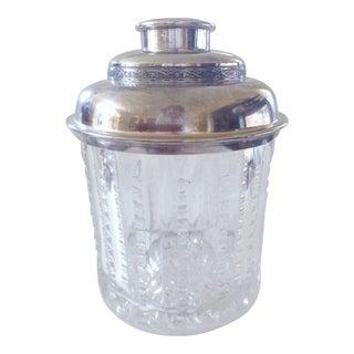 Cut Crystal Humidor w/ Silver Lid