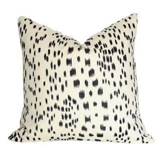"Les Touches Black Pillow Cover 20"" Sq. For Sale"