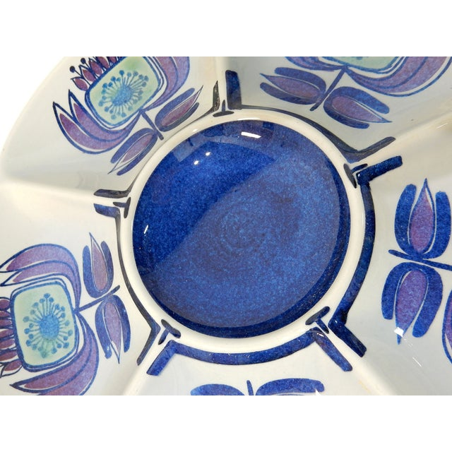 Signed Porcelain Serving Plate With Compartments - Image 5 of 7