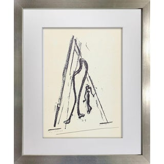 """Max Ernst Lithograph Limited Ed. On Arches Sign """"La Harpe"""" W/Frame Included For Sale"""