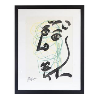 Original Peter Keil Framed Figural Abstract Painting For Sale