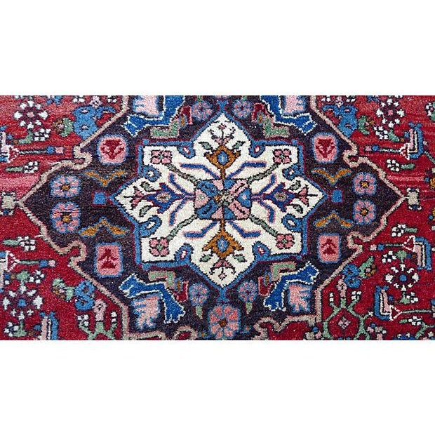 Beautiful antique traditional design Persian Bijar rug. Two shade of colors in this rug, no tear, no holes, in excellent...
