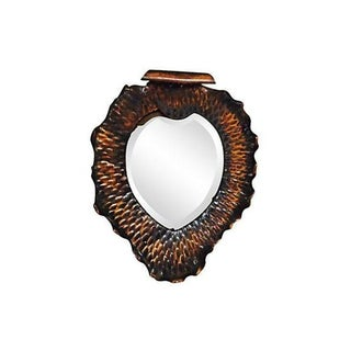 Copper Heart Shaped Mirror