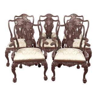 Set Of Eight 19th Century English Dining Chairs For Sale