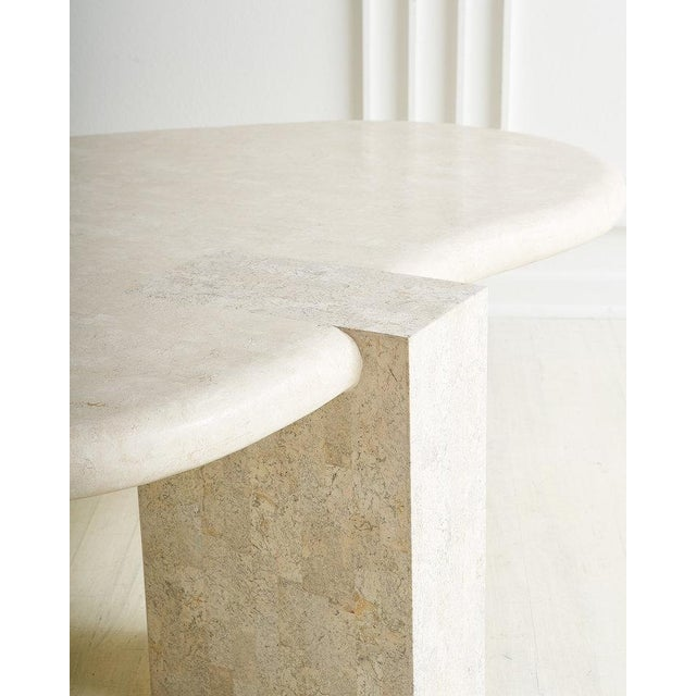 Tessellated Stone Amoebic Shaped Coffee Table For Sale - Image 4 of 7