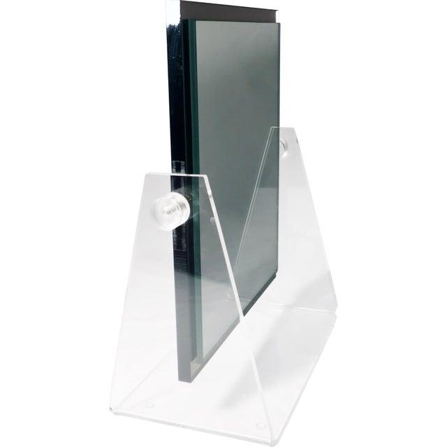 Vintage Lucite Adjustable Tabletop Mirror - Image 9 of 10