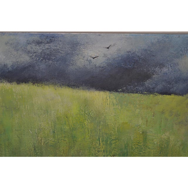 "Mid-Century Modern ""Wheatfield"" Oil Painting by Joseph Barber C.1960 For Sale In San Francisco - Image 6 of 11"