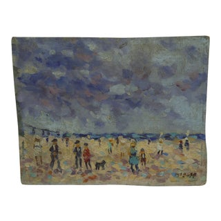 "Frederick McDuff ""At the Beach"" Original Painting on Board"
