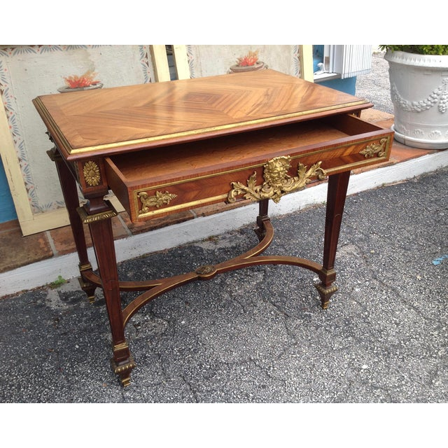Fine French Ladies Writing Table For Sale In West Palm - Image 6 of 13