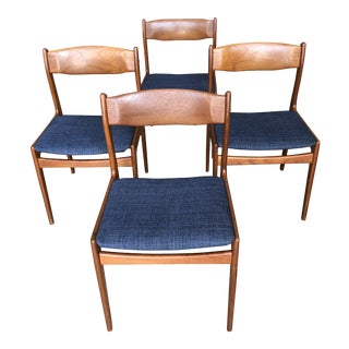 Vintage Danish Modern Teak Dining Chairs- Set of4 For Sale