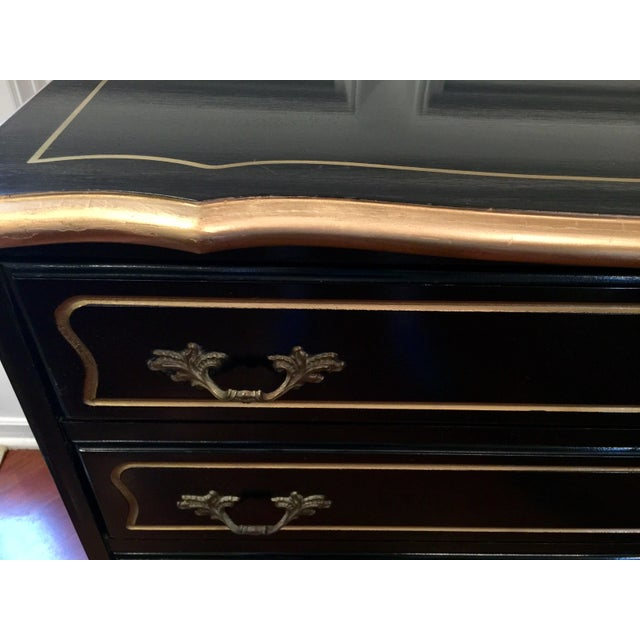 1960s 1960s Hollywood Regency Black Lacquer Chest For Sale - Image 5 of 11