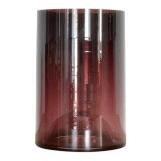 Klaar Prims 'Upsdwn' Glass Vase Tall - Dark Violet For Sale
