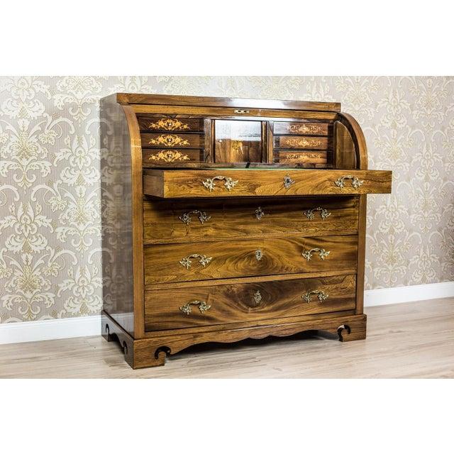 Mid 19th Century Elm Secretary Desk, circa the 19th Century For Sale - Image 5 of 13
