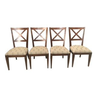 Early 21st Century Ethan Allen Elements Cross Back Dining Side Chairs - Set of 4 For Sale