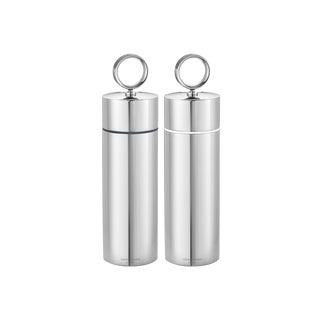 Georg Jensen Art Deco Stainless Steel Salt & Pepper Grinder Set For Sale