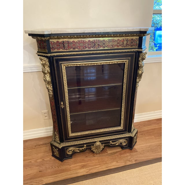 French Boulle Style Display Cabinet For Sale - Image 11 of 11