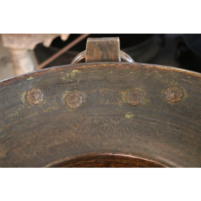 Incised Brass Planter For Sale - Image 4 of 7