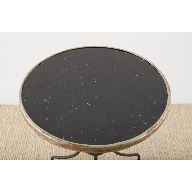 Late 19th Century French Belle Époque Iron and Marble Bistro Cafe Table For Sale - Image 5 of 13