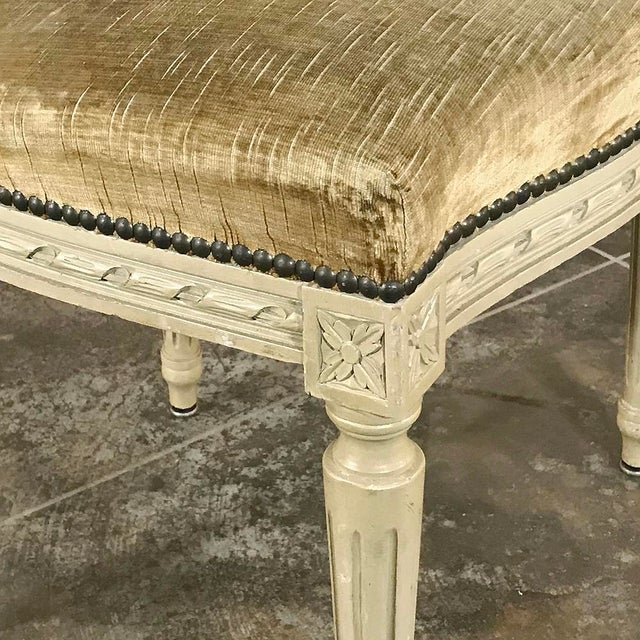 Set of 6 Antique French Painted Louis XVI Chairs For Sale - Image 10 of 13