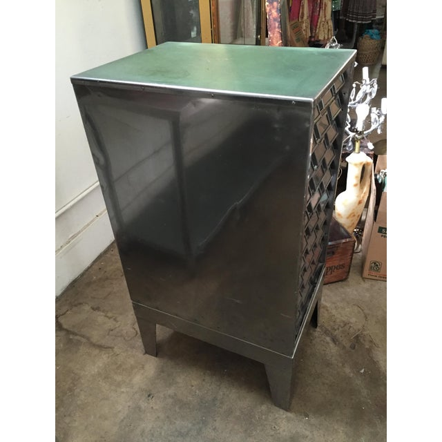 1940s Vintage Mid-Century Metal Library Cabinet For Sale - Image 5 of 11