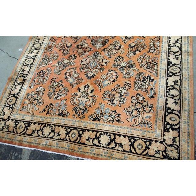 1920s, Handmade Antique Persian Sarouk Rug 5.2' X 8.3' - 1b704 For Sale - Image 4 of 10