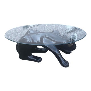 1970s Contemporary Black Panther Coffee Table For Sale