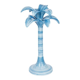 Ceramic Palm Tree Candle Holder For Sale