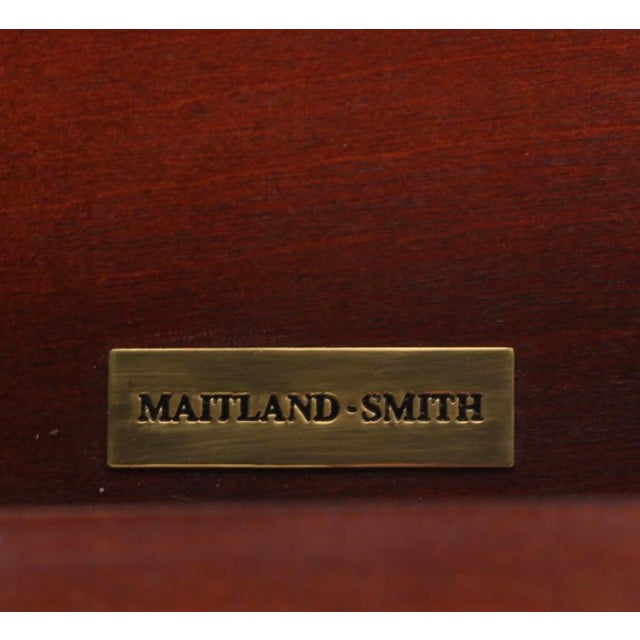 Gorgeous Maitland-Smith Mahogany Barley Twist Drop Leaf Table For Sale - Image 9 of 13