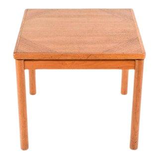 "1950s Mid-Century Modern ""Floating"" Danish Teak Side Table For Sale"