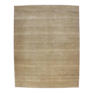 Contemporary Modern Rug with Transitional Style and Grass Cloth Design For Sale