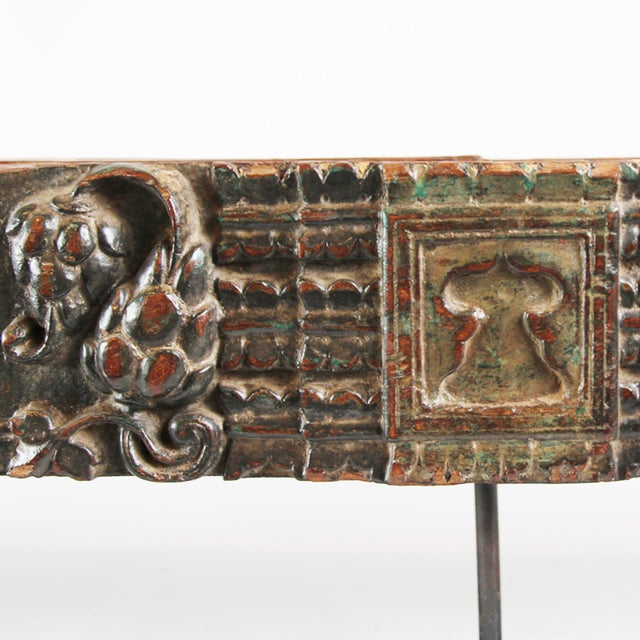 Indian Wooden Architectural Fragment - Image 4 of 4