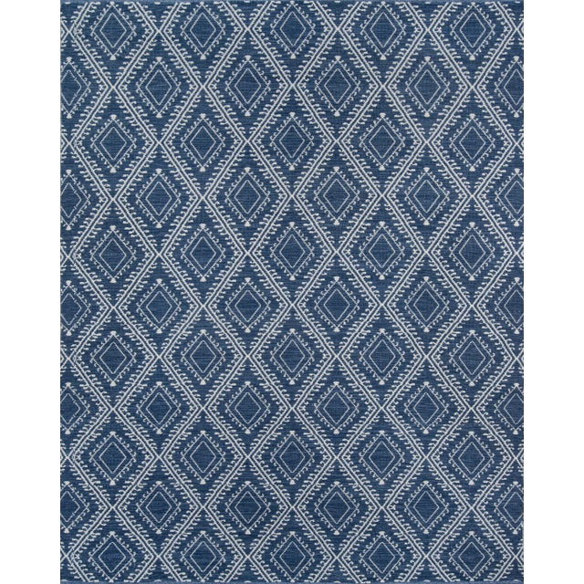 """Plastic Erin Gates by Momeni Easton Pleasant Navy Indoor/Outdoor Hand Woven Area Rug - 5' X 7'6"""" For Sale - Image 7 of 7"""