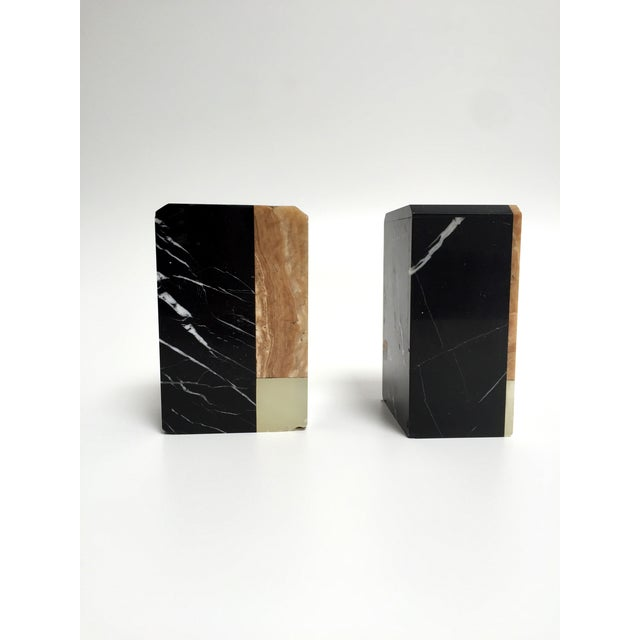 Post-Modern Marble Bookends - A Pair - Image 4 of 9