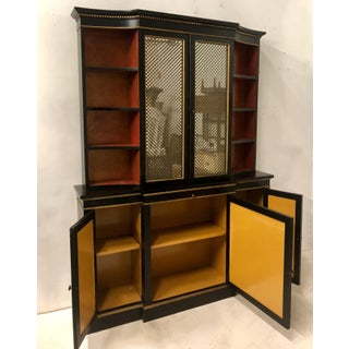 Hollywood Regency Italian China or Library Cabinet Preview