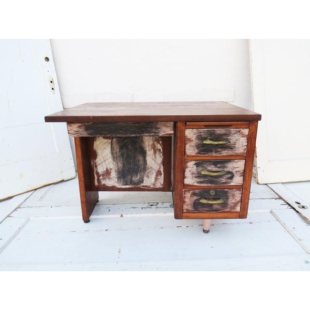 Winston Mid-Century Desk - Image 2 of 4