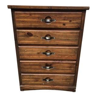 Vintage Weathered Pine Dresser For Sale