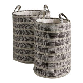 Marleigh Round Baskets from Kenneth Ludwig Chicago - Pair For Sale