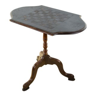 19th C. Victorian Walnut Game Table For Sale