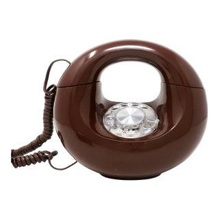 Vintage Brown Sculptura Donut Telephone For Sale