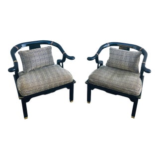 James Mont Chinoiserie Chairs for Century Furniture - a Pair For Sale