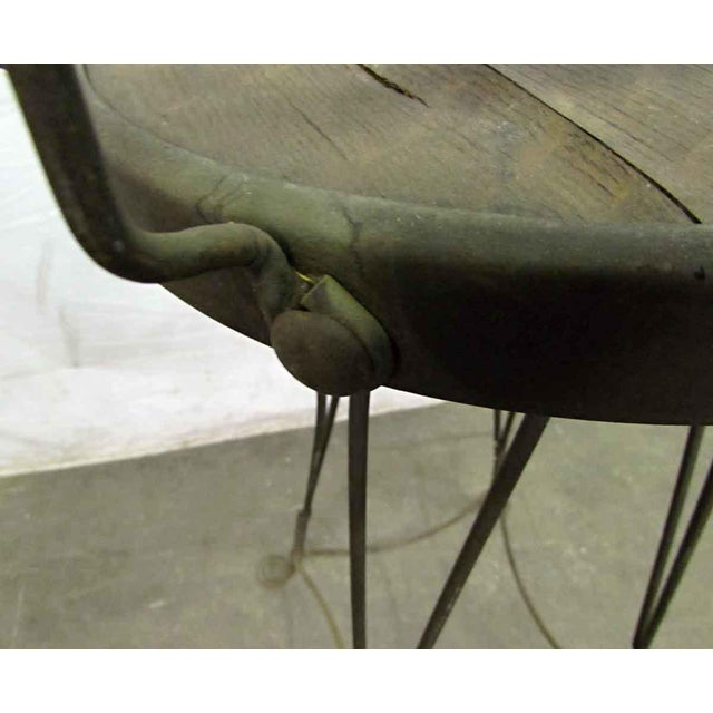 Unique Traditonal Industrial Cast Iron High Stool For Sale - Image 6 of 10