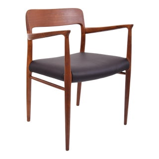 Niels Moller Model 56 Armchair in Edelman Leather For Sale
