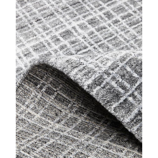 Contemporary Wesley, Contemporary Modern Loom Knotted Area Rug, Charcoal, 4 X 6 For Sale - Image 3 of 10