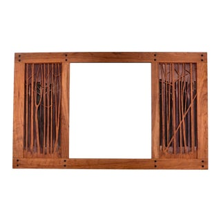 Arts & Crafts Style Wood Dimensional Mirror For Sale