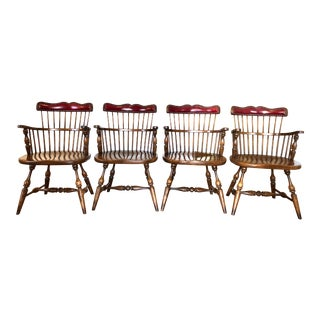 Frederick Duckloe & Bros Royal Governor Arm Chairs- Set of 4 For Sale