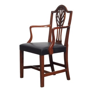 Late 19th Century Vintage Danish Mahogany Armchair For Sale