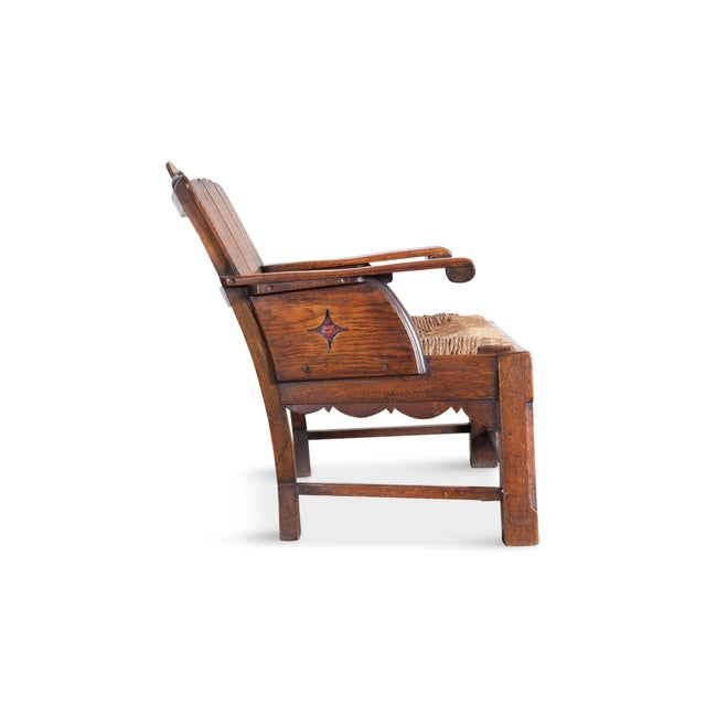 Sculptural Arts & Crafts Lounge Chair For Sale - Image 4 of 9