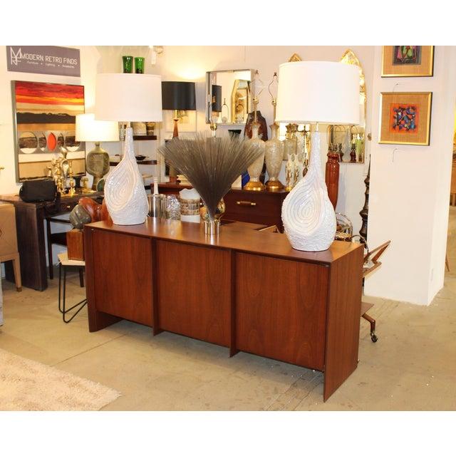 Mid 20th Century Robsjohn-Gibbings Modernist Walnut Credenza For Sale - Image 5 of 13