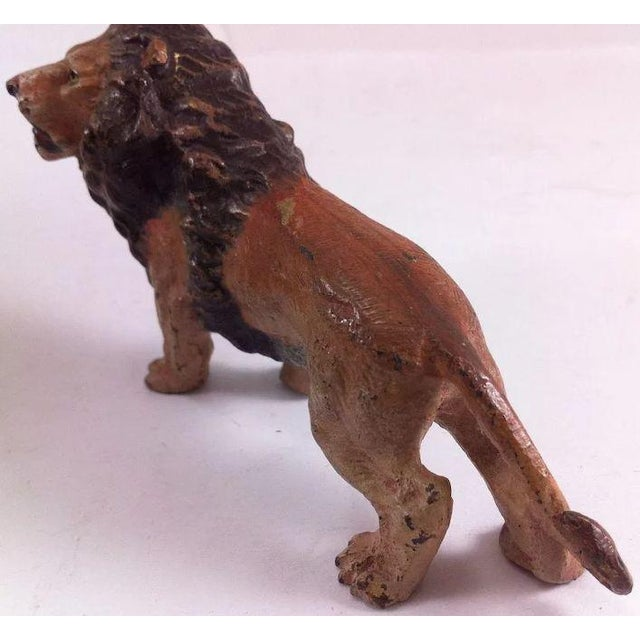 Early 20th Century Austrian Cold Painted Bronze Lion Figure For Sale - Image 5 of 10